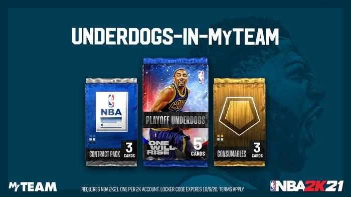 NBA 2K21 Locker Code Playoff Underdogs 1