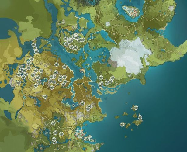 Genshin Impact Qinxin Map Locations