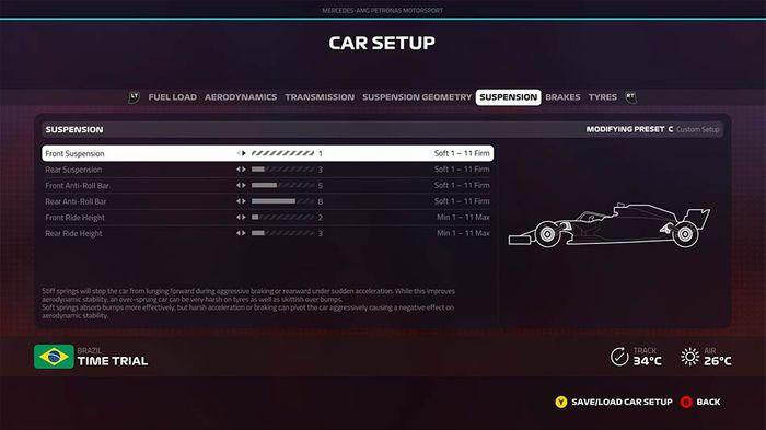 F1 2019 Brazilian Grand Prix setup suspension