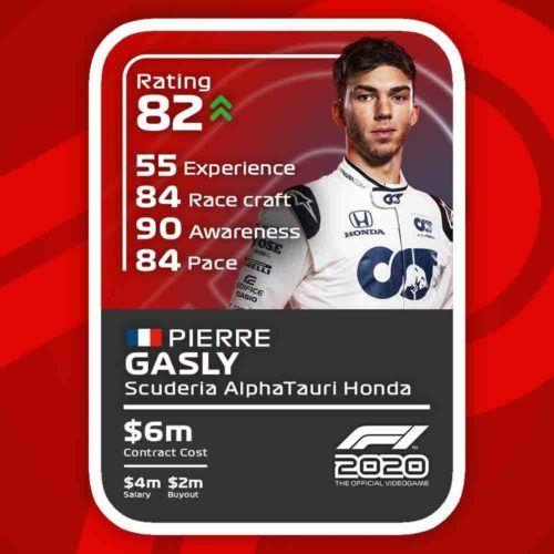 f1 2020 driver card pierre gasly 1