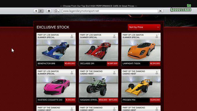 gta online summer update cars prices