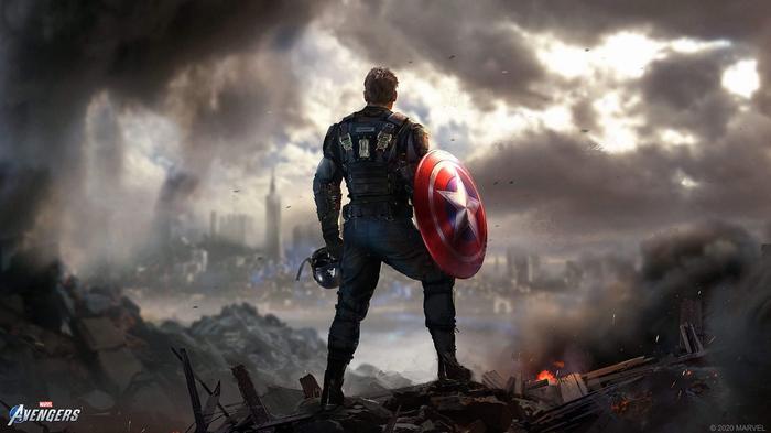 Marvel Avengers PS5 Release Captain America Key Art