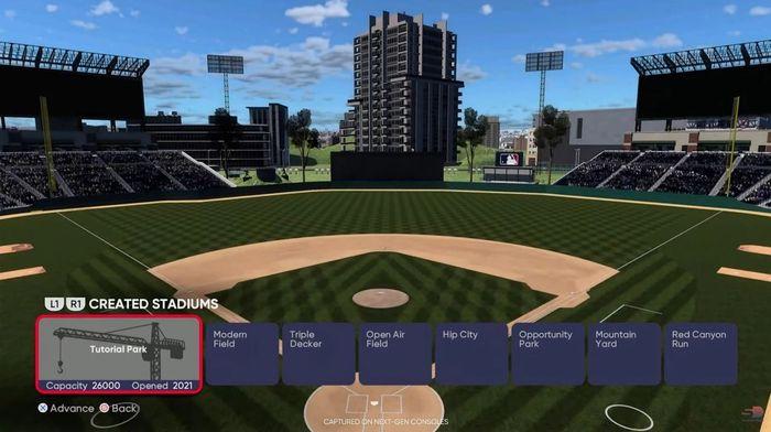 MLB The Show 21 Franchise Mode Stadium Creator