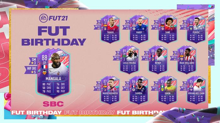 FUT Birthday SBC FIFA 21 Ultimate Team Eliaquim Mangala
