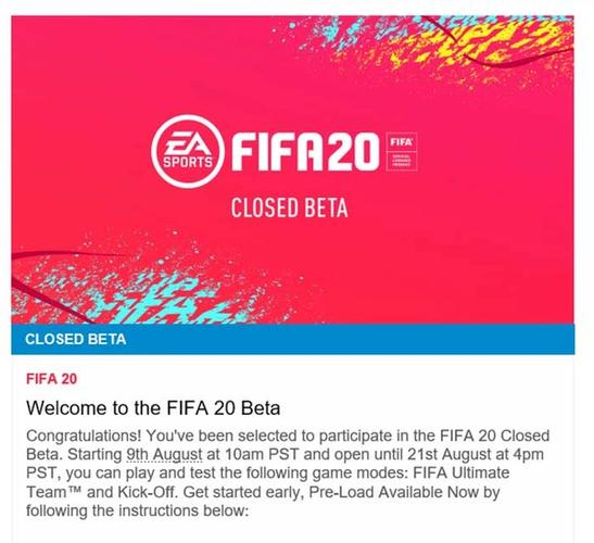 fifa 20 beta approval