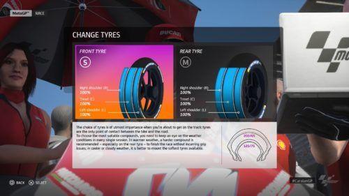 MotoGP™20 tyre choices Qatar