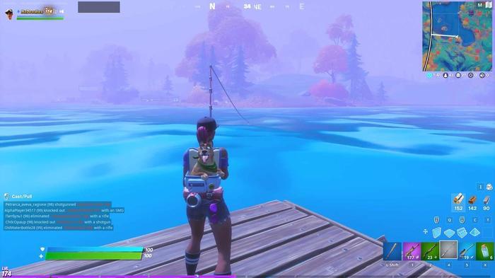 Fortnite season 4 week 10 fish heart lake