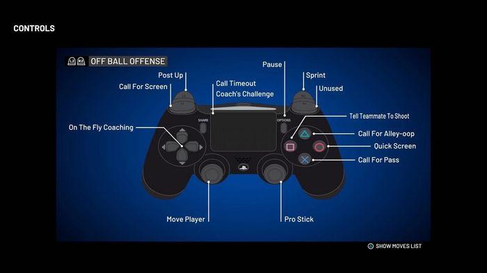 NBA 2K21 Off Ball Offense Controls