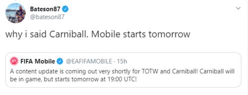 carniball promo tweet confirmed