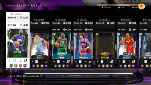 NBA 2K20 community marketplace myteam tokens 1 1