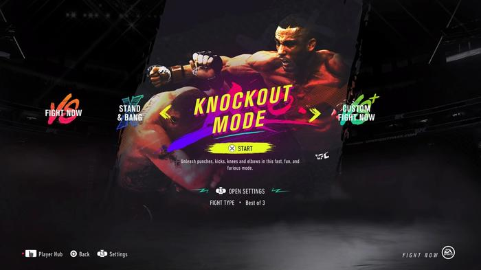KNOCKOUT MODE UFC 4