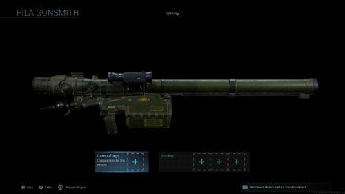 PILA in Call of Duty Modern Warfare