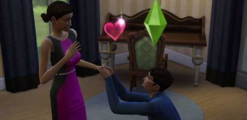 A sim proposing to another Sim