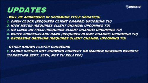 madden 21 update news