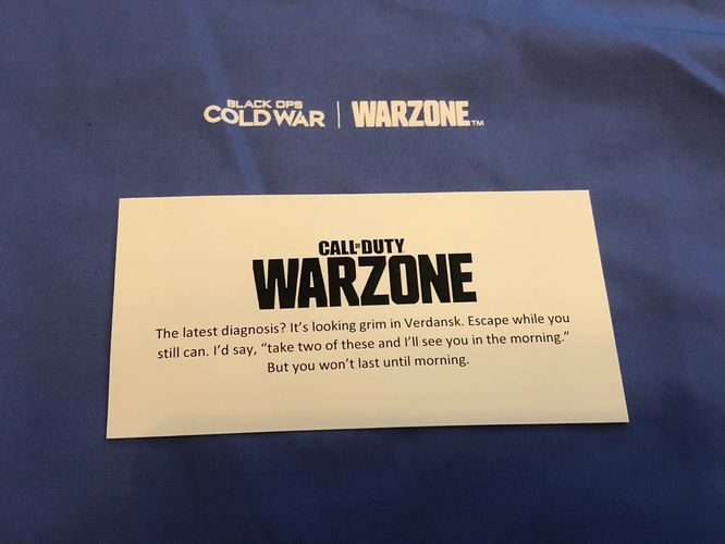 Warzone Zombies Hospital Teaser Note