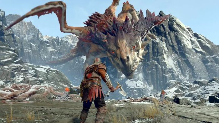 God of War PS4 Boss Fight Guide: How To Beat Mountain Dragon Hraezlyr