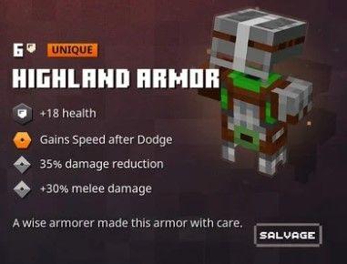 highland armour minecraft