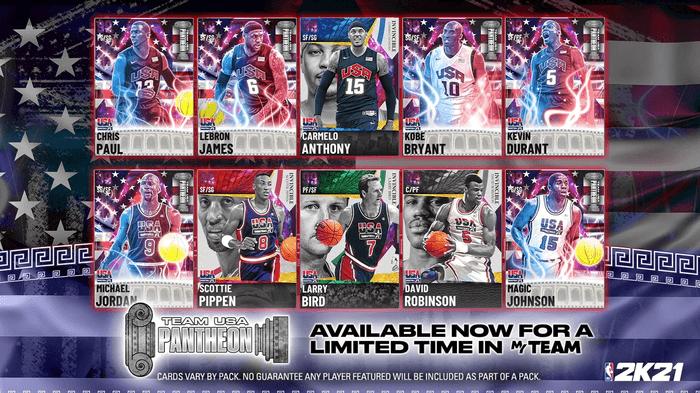 NBA 2K21 MyTEAM Pantheon Team USA Packs Every Player