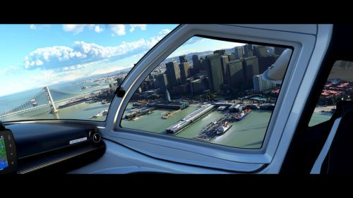 perspective flight sim
