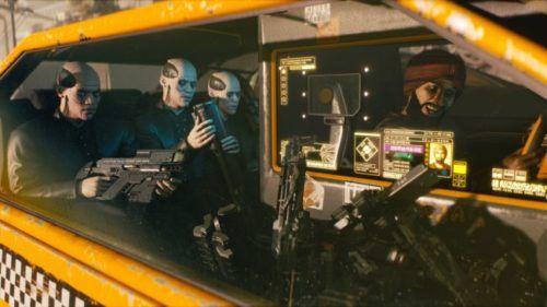 Cyberpunk 2077 taxi robots future night city