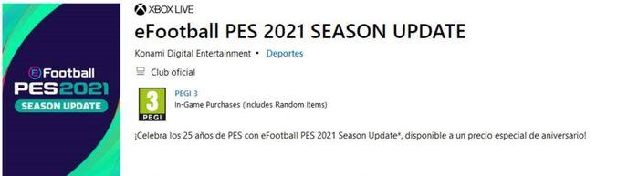 pes 2021 season update microsoft store