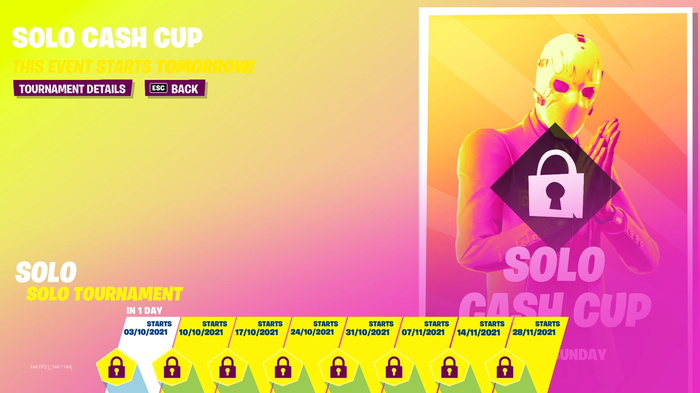 Fortnite Weekly Cash Cup Schedule