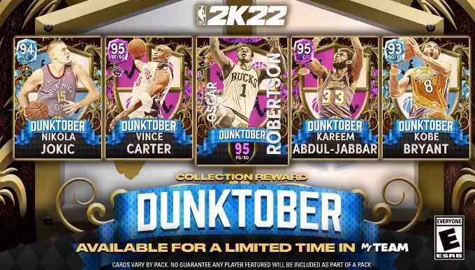 The Dunktober set in NBA 2K22