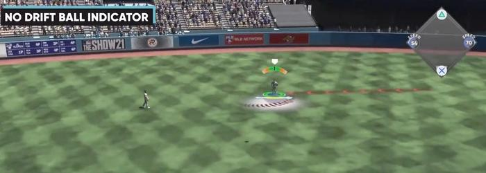 MLB The Show 21 fielding indicator new feature