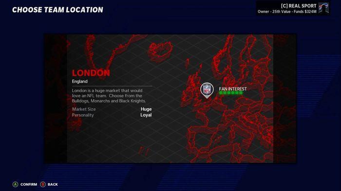 Madden 21 relocation London 1