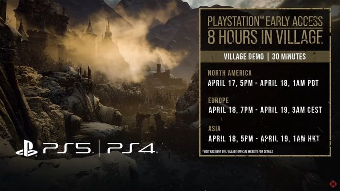 Resident Evil 8 PS5 Demo Times