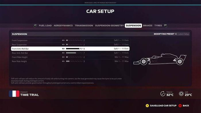 F1 2019 french grand prix setup suspension