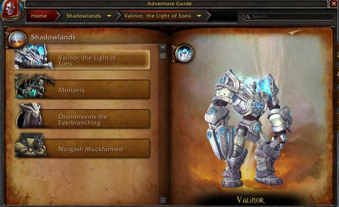 WoW Shadowlands World Boss Valinor the Light of Eons Loot Mechanics Location Bastion