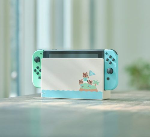 An Animal Crossing-themed Nintendo Switch console