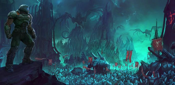 Doom Eternal DLC 2 The Ancient Gods Part 2 Sentinel Concept Art