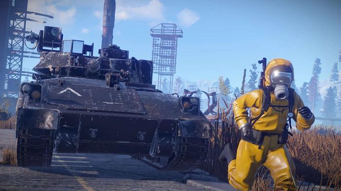 Rust Console Edition Tank Hazmat Yellow