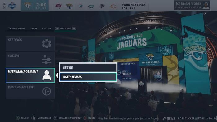 Madden 21 Franchise Update patch notes release date january draft logic