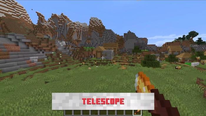 Minecraft 1 17 telescope in hand