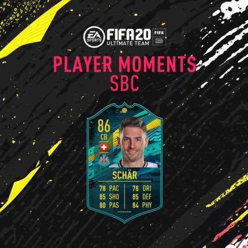 Fabian Schar's Player Moments SBC card