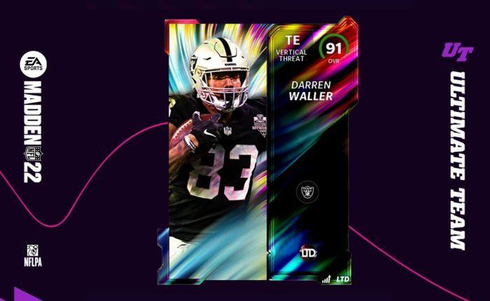 Madden 22 Ultimate Team image of the LTD Darren Waller card