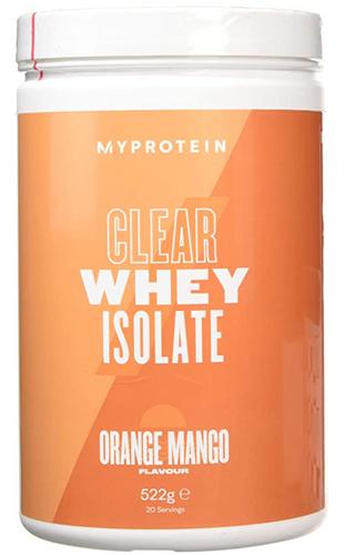 Best protein powder MyProtein product image of its orange mango clear whey protein powder