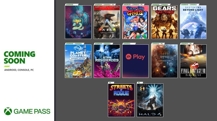Xbox Game Pass games being added