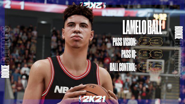 NBA 2K21 rookie ratings LaMelo Ball next gen 1