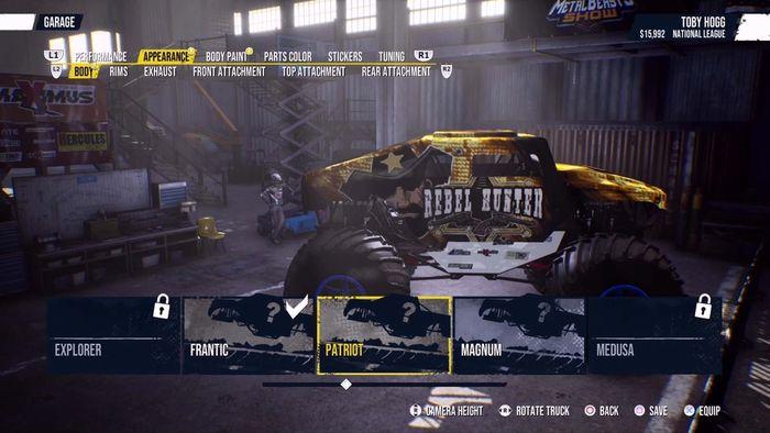 Monster Truck Sim customisation min1
