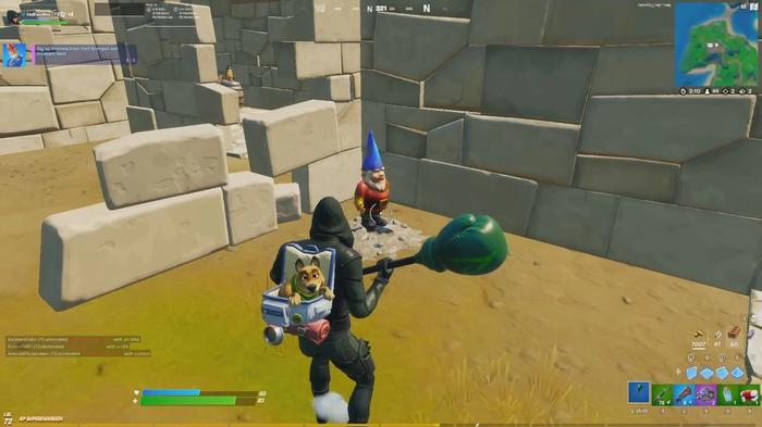 Fortnite Dig Up Gnomes In Fort Crumpet and Pleasant Park 1