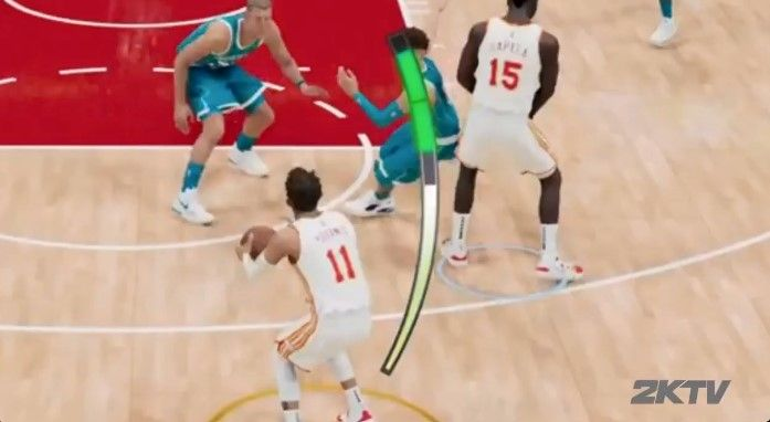 The shot meter in NBA 2K22