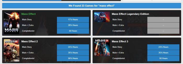 Mass Effect How Long To Beat