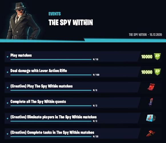SUS: The Spy Within comes with new challenges to grant cosmetics.