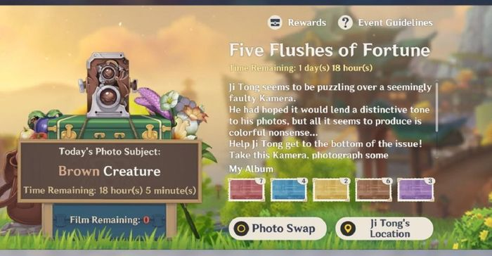 Genshin Impact Five Flushes Of Fortune Day 6 Brown Creatures