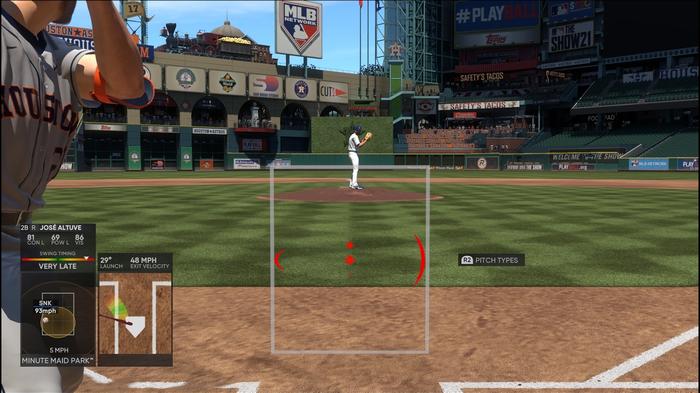 MLB The Show 21 Batting Hitting Guide Controls PCI Options Interface