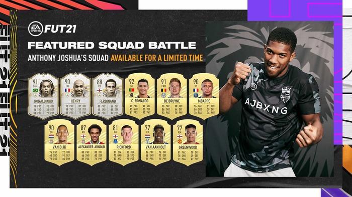 fifa 21 anthony joshua featured squad battle